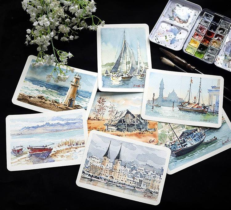 Du lịch vòng quanh thế giới qua những bức tranh màu nước sống động như thật - Ảnh 25.