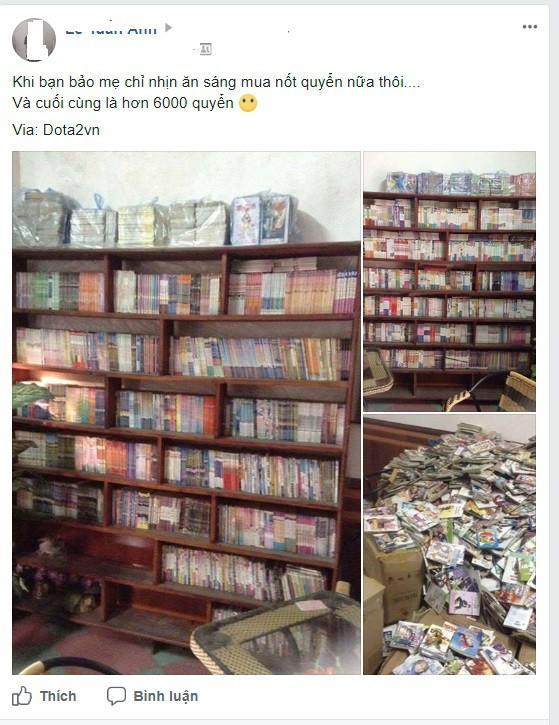 Thanh niên nhịn ăn sáng suốt 16 năm để mua hơn 6000 quyển truyện tranh