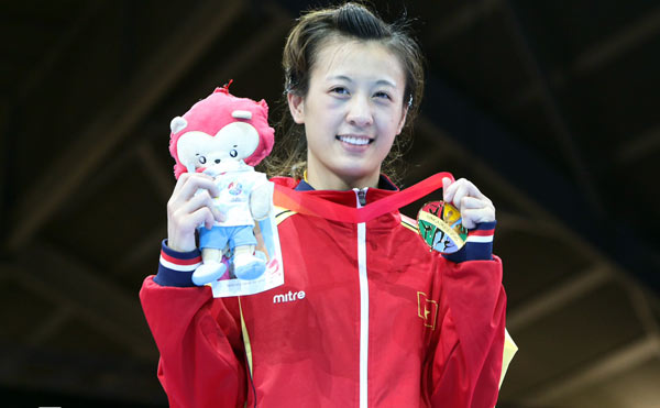 Hot girl boxing Nguyễn Thị Yến: Nếu có ai trêu, em chỉ lườm một cái... rồi thôi - Ảnh 6.