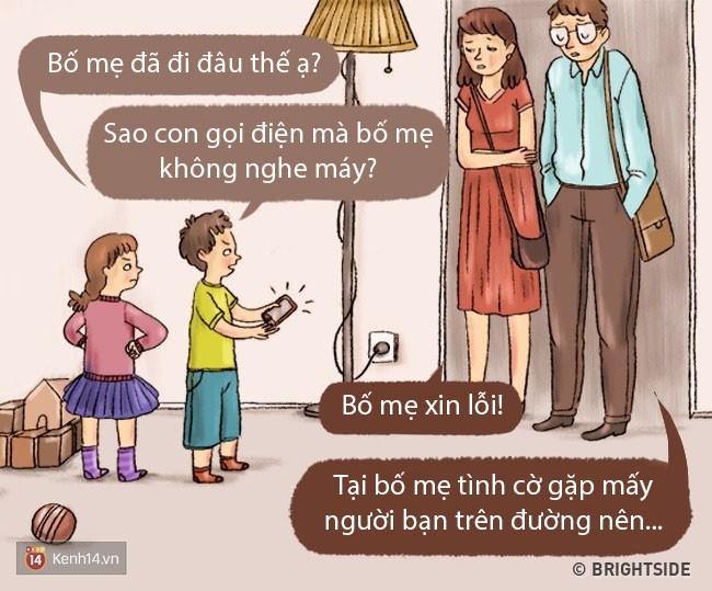 Bộ tranh: Chuyện gì sẽ xảy ra khi bố mẹ và con cái đổi tính cho nhau? - Ảnh 1.