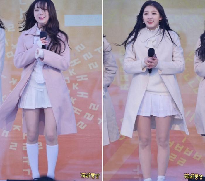 Biểu diễn trong trang phục mỏng manh giữa tiết trời lạnh giá, các idol nữ xứ Hàn khiến nhiều netizen xót xa - Ảnh 6.