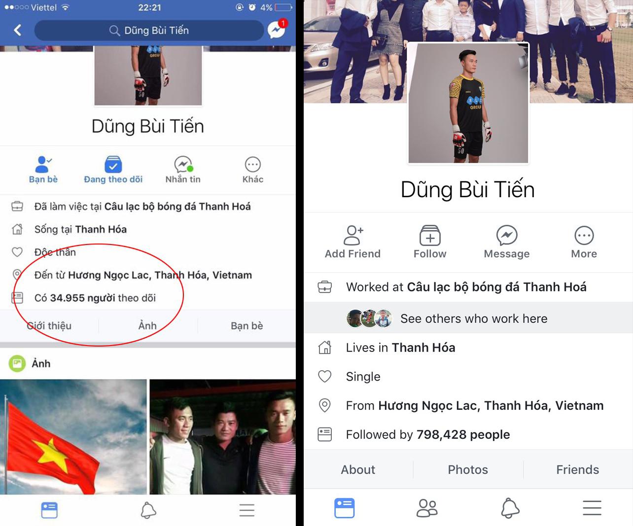 Facebook giả mạo thủ môn Bùi Tiến Dũng có 500.000 người theo dõi! Đây mới là tài khoản thật mọi người ơi - Ảnh 1.