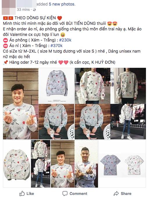 Chiếc áo đôi của Tiến Dũng và Đức Chinh được bán ồ ạt trên mạng, sản phẩm ăn theo U23 VN cũng bắt đầu đắt hàng - Ảnh 4.