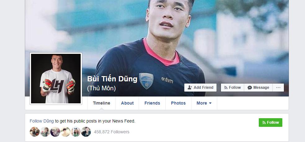 Facebook giả mạo thủ môn Bùi Tiến Dũng có 500.000 người theo dõi! Đây mới là tài khoản thật mọi người ơi - Ảnh 2.