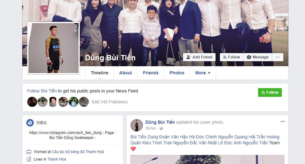 Facebook giả mạo thủ môn Bùi Tiến Dũng có 500.000 người theo dõi! Đây mới là tài khoản thật mọi người ơi - Ảnh 3.