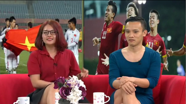 Người Việt Nam nói là làm: Người đàn ông mặc váy của vợ đi làm cả ngày sau khi U23 Việt Nam thắng trận bán kết - Ảnh 6.