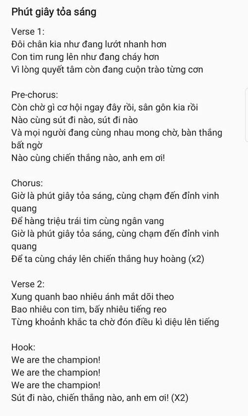 Hai ca khúc đầu tiên viết riêng cổ vũ đội tuyển U23 Việt Nam trước thềm Chung kết đã ra mắt! - Ảnh 4.
