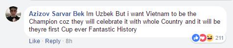 Trai đẹp Uzbekistan với bình luận dễ thương nhất MXH: Mong Việt Nam vô địch vì cả nước sẽ ăn mừng chiến thắng - Ảnh 1.