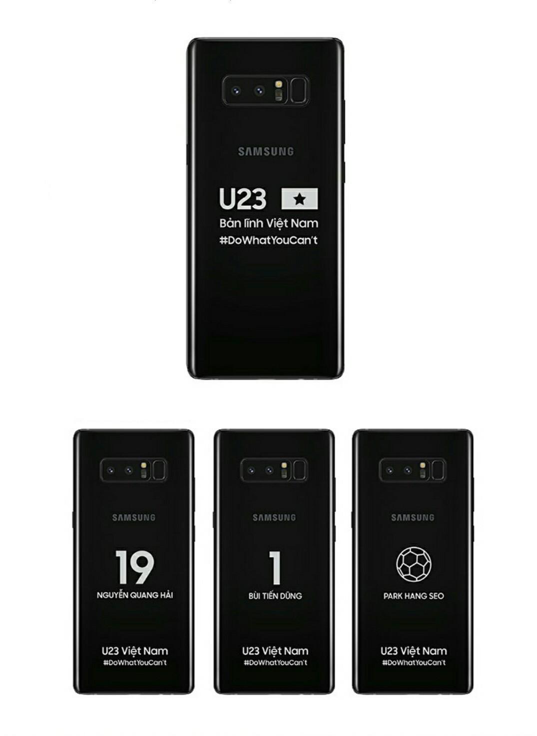 Samsung tặng mỗi cầu thủ U23 Việt Nam một điện thoại Galaxy Note 8 phiên bản hàng thửa - Ảnh 1.