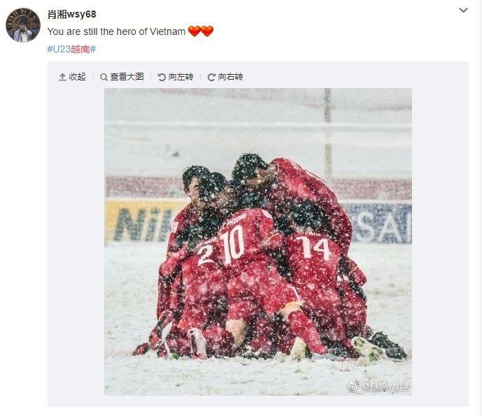Bức ảnh của U23 Việt Nam giữa tuyết trắng được netizen Trung chia sẻ: Các bạn chính là người hùng của Việt Nam - Ảnh 3.