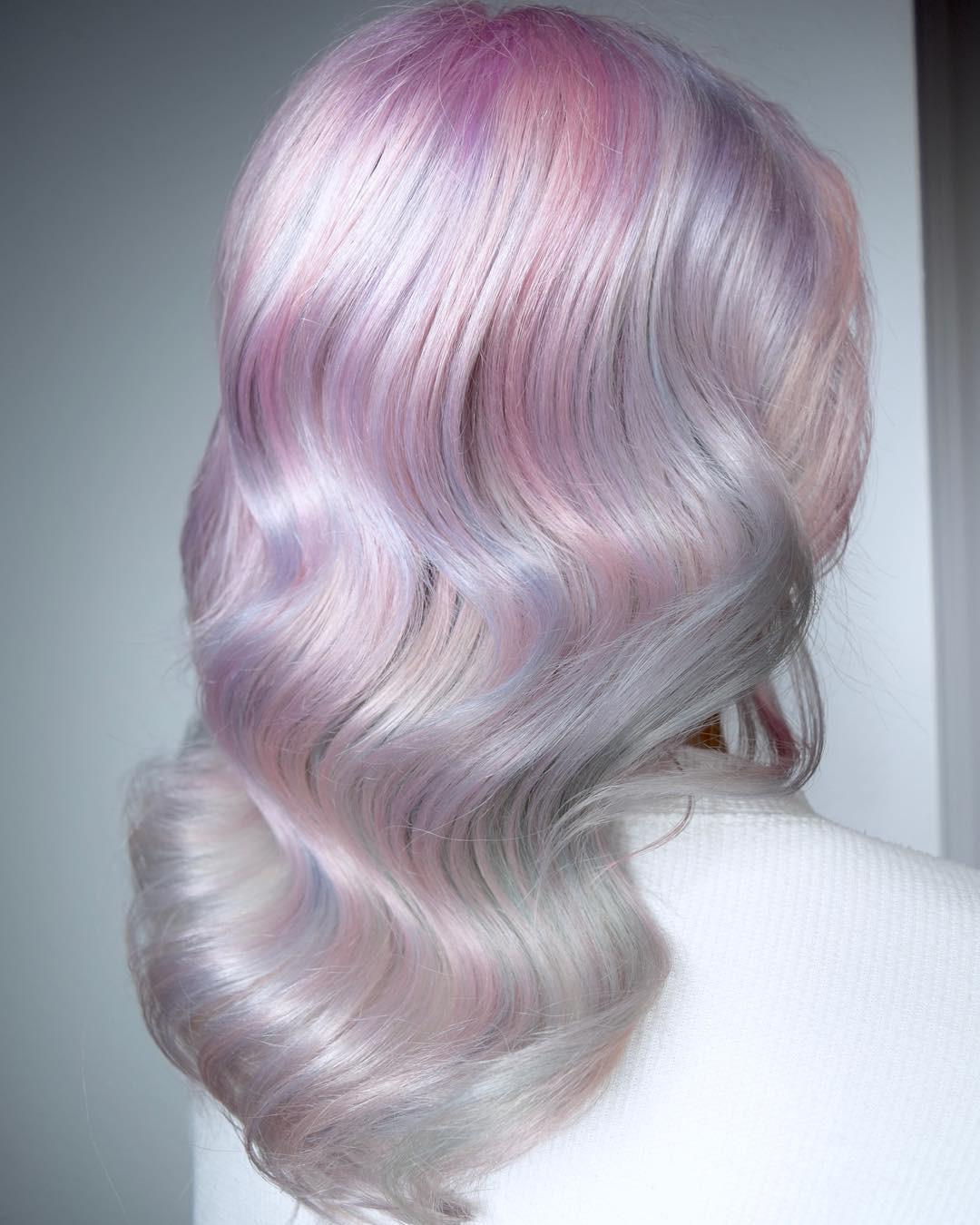 Tóc nhuộm kẹo bông: màu nhuộm huyền ảo mở hàng cho xu hướng tóc 2018 đảm bảo sẽ khiến hội sành điệu phải rối rít - Ảnh 3.