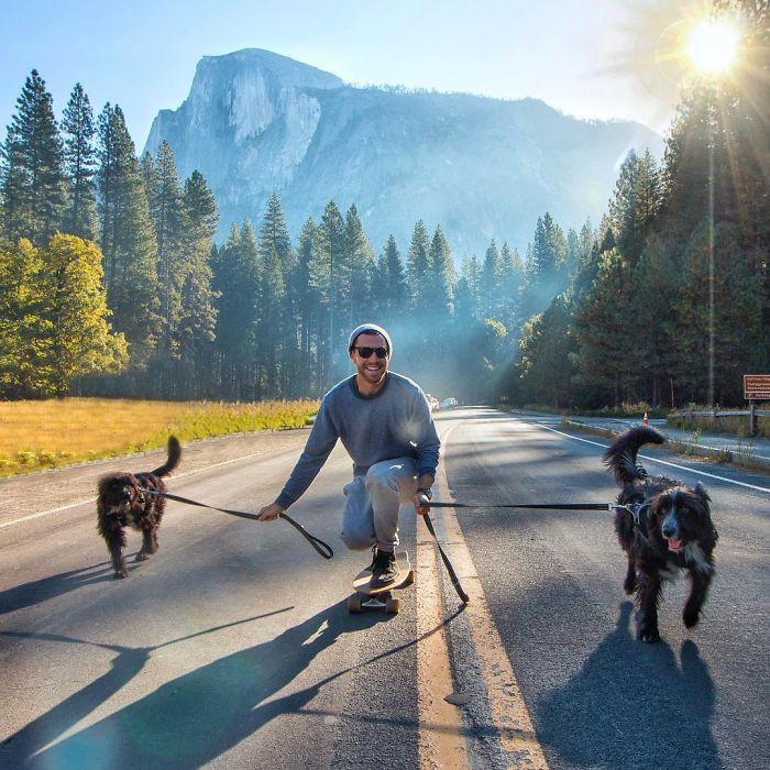 Cứu sống hai chú chó nhỏ, anh chủ tốt bụng còn đưa chúng đi du ngoạn khắp thế gian - Ảnh 11.