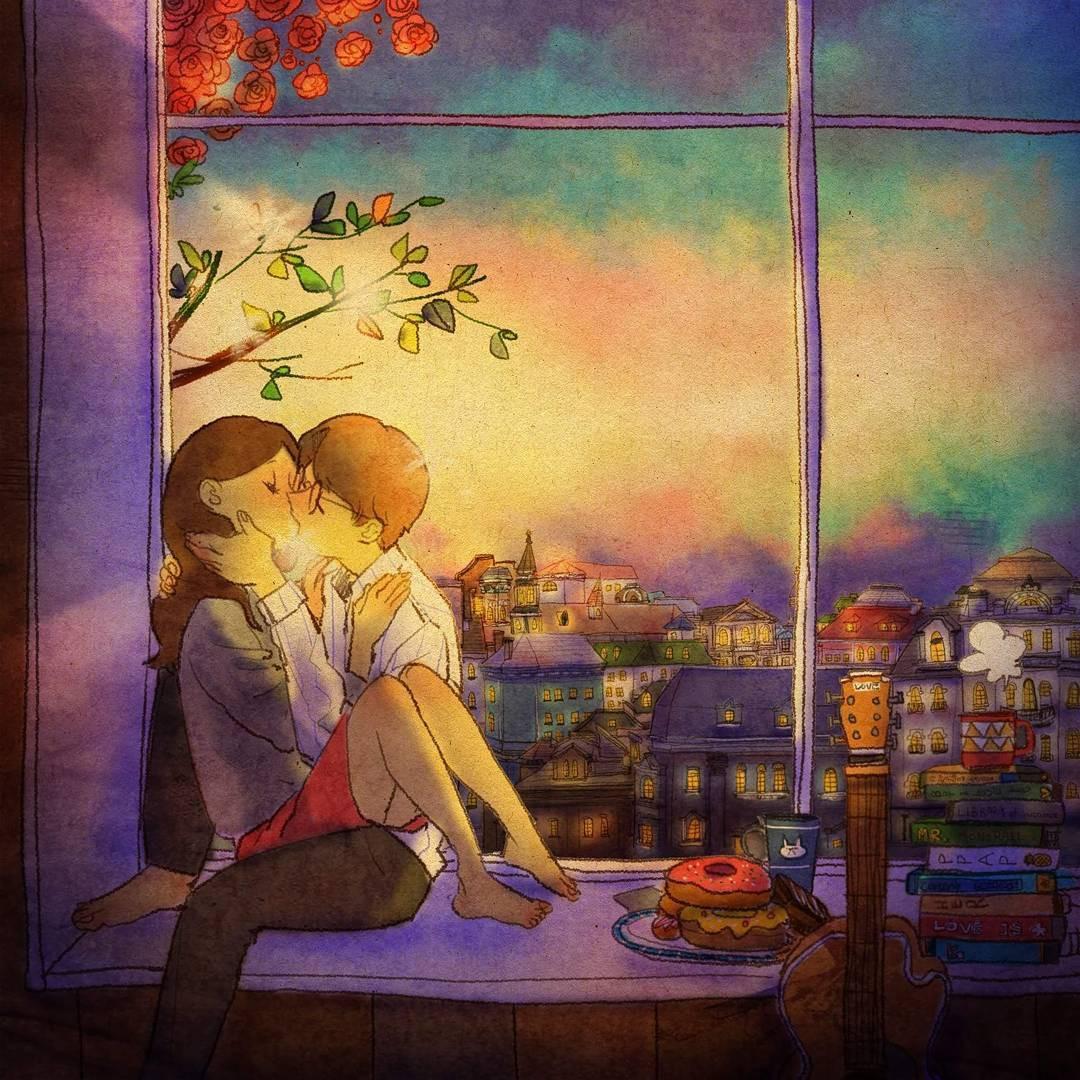 Bộ tranh: Trong tình yêu, điều tuyệt vời nhất đôi khi lại xuất phát từ những điều bình dị nhất