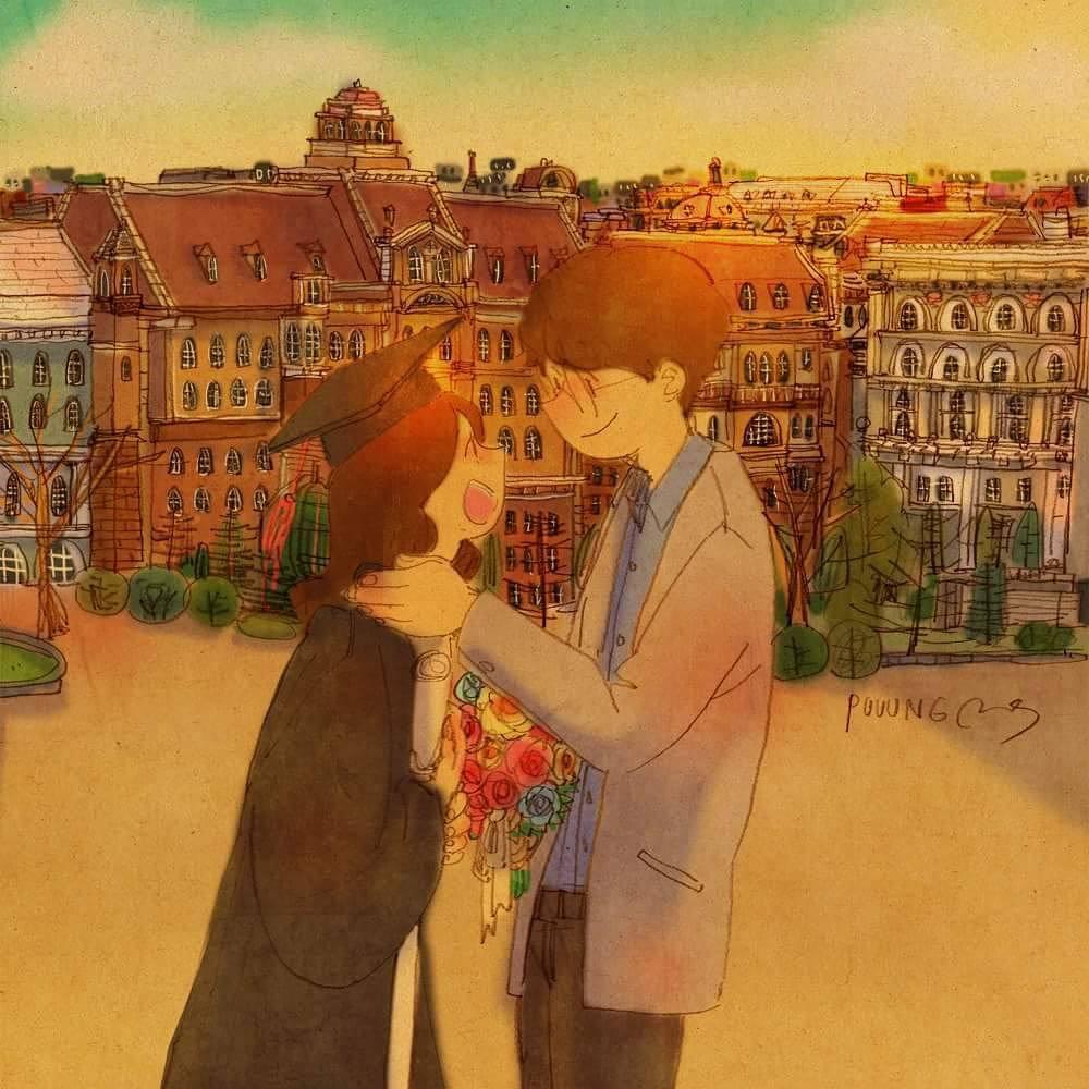 Bộ tranh: Trong tình yêu, điều tuyệt vời nhất đôi khi lại xuất phát từ những điều bình dị nhất - Ảnh 27.