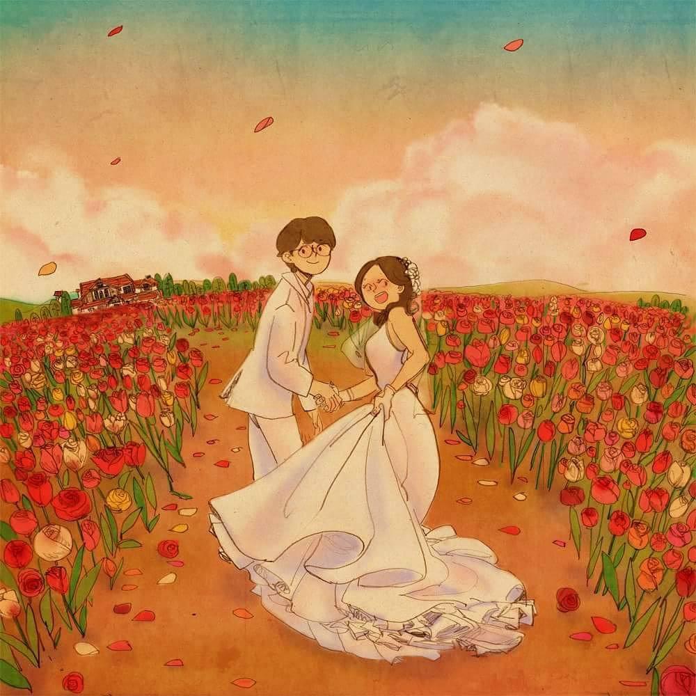 Bộ tranh: Trong tình yêu, điều tuyệt vời nhất đôi khi lại xuất phát từ những điều bình dị nhất - Ảnh 29.