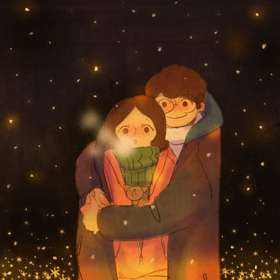 Bộ tranh: Trong tình yêu, điều tuyệt vời nhất đôi khi lại xuất phát từ những điều bình dị nhất - Ảnh 9.