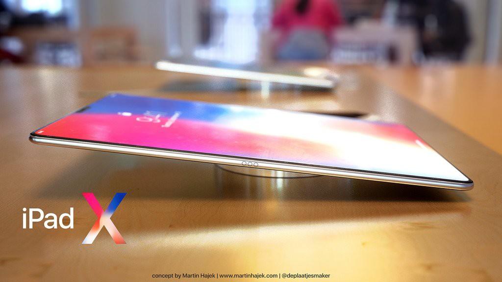 Concept iPad Pro 2018: Chính là một cái iPhone X bị xe lu cán dẹp lép, to bè ra - Ảnh 1.