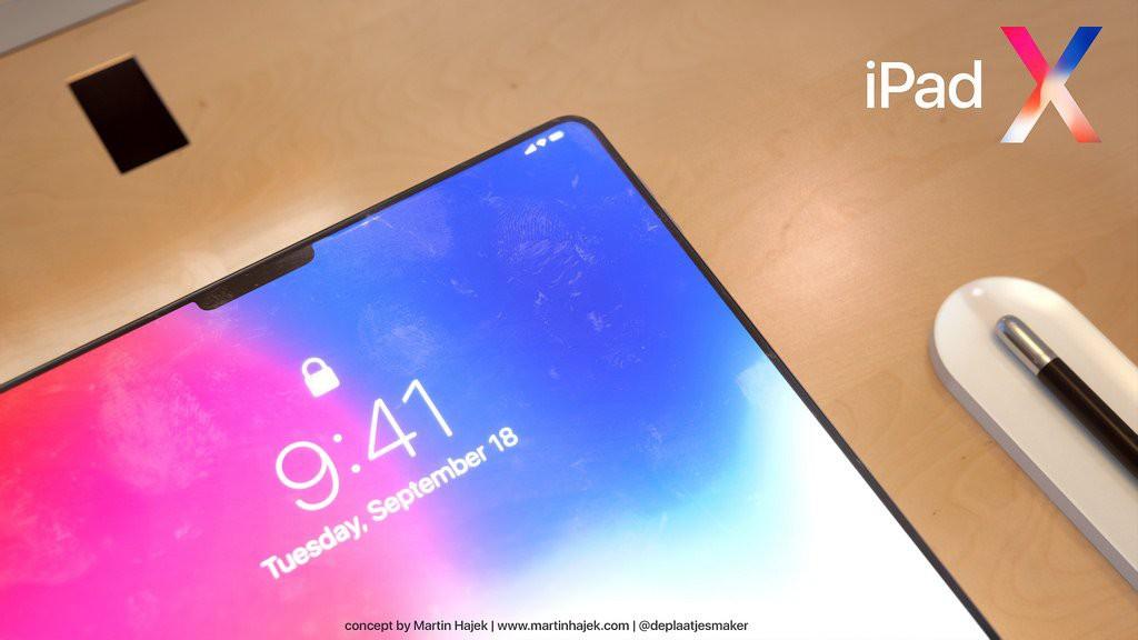 Concept iPad Pro 2018: Chính là một cái iPhone X bị xe lu cán dẹp lép, to bè ra - Ảnh 2.