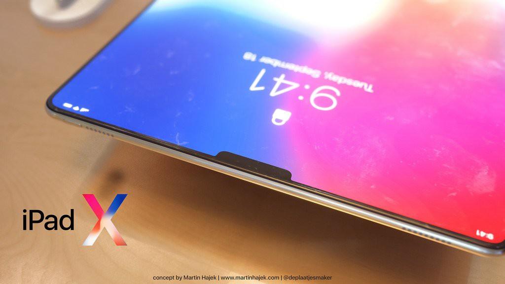 Concept iPad Pro 2018: Chính là một cái iPhone X bị xe lu cán dẹp lép, to bè ra - Ảnh 3.