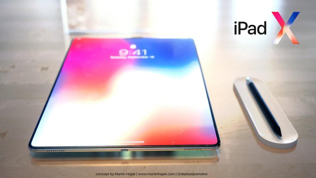 Concept iPad Pro 2018: Chính là một cái iPhone X bị xe lu cán dẹp lép, to bè ra - Ảnh 4.