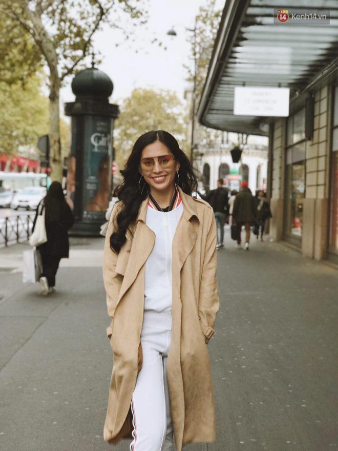 Hoa hậu Tiểu Vy mặt mộc dạo phố Paris, khoe vẻ đẹp đầy sức sống của tuổi 18 - Ảnh 9.