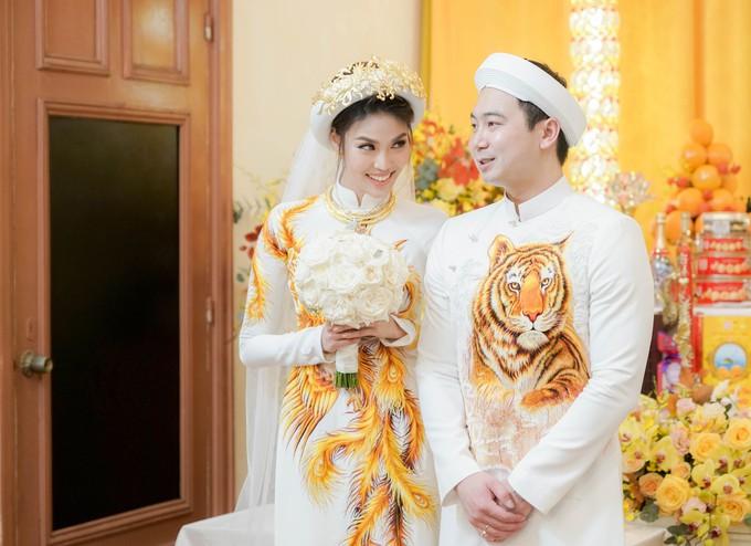 3 ngày nữa là bước vào hào môn, đến tận hôm nay 2 chiếc váy cưới của Lan Khuê mới được hé lộ! - Ảnh 4.
