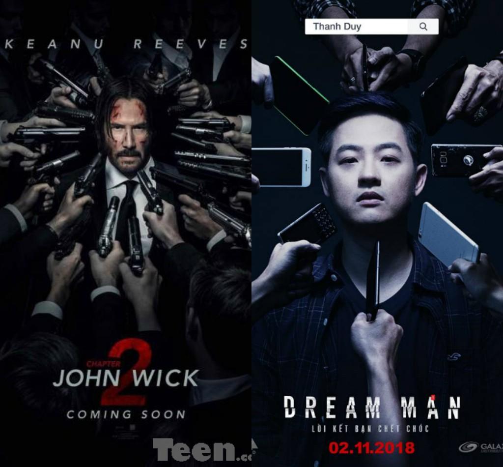 Vừa kiểm duyệt xong, phim kinh dị Việt này lại vướng nghi án đạo nhái poster bom tấn John Wick - Ảnh 1.
