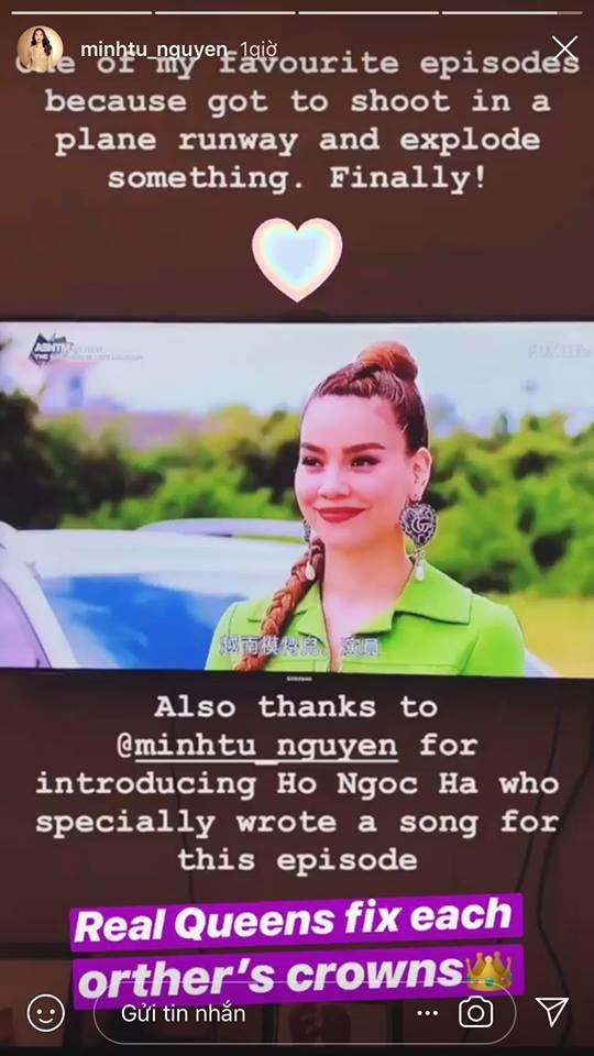 Hồ Ngọc Hà gửi lời cảm ơn Minh Tú vì đã kết nối mình với Asias Next Top Model - Ảnh 3.