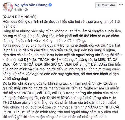 NS Nguyễn Văn Chung bất bình về xu hướng đặt tựa bài hát nhạy cảm, gọi những sáng tác thô tục là nhạc rác - Ảnh 2.