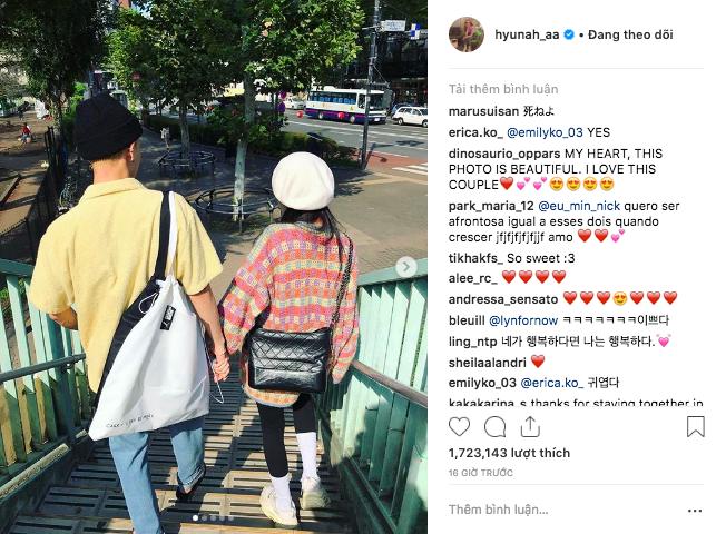 Hyuna đạt kỷ lục triệu like sau chưa đầy 24h nhờ đăng ảnh hẹn hò với EDawn, sao Việt cũng thả tim cho cặp đôi - Ảnh 2.