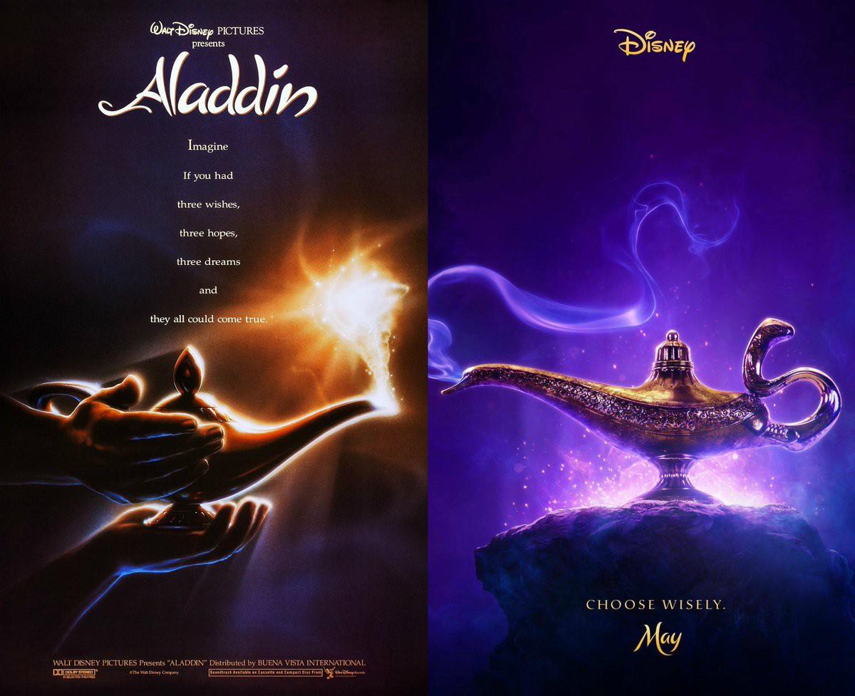 Lộ diện poster Aladdin lung linh huyền ảo, vai Thần Đèn về tay Will Smith - Ảnh 2.