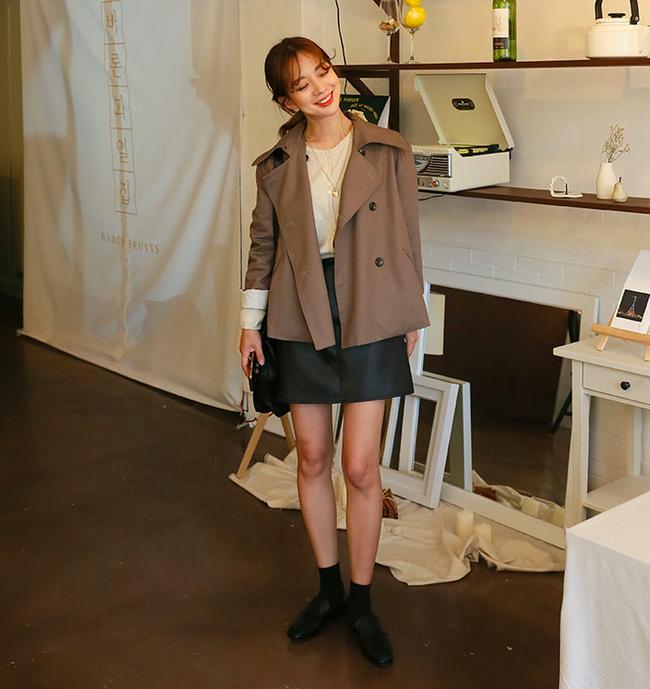 áo trench coat thu đông 2018