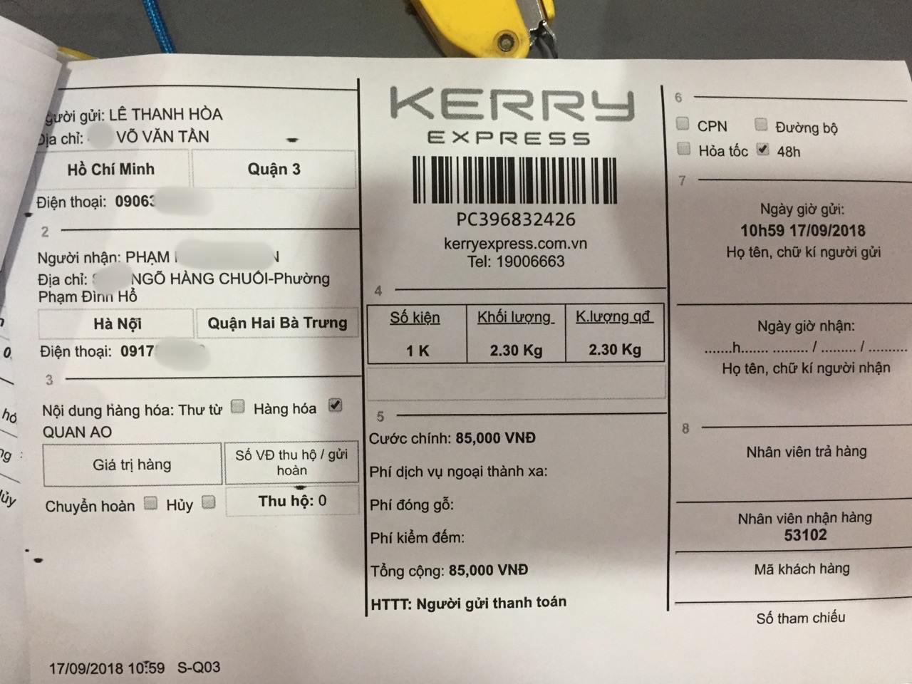 NTK Lê Thanh Hòa bức xúc tố công ty Giao hàng nhanh Kerry Express chuyển đồ chậm, làm thất lạc gói bưu phẩm trị giá hơn 65 triệu đồng - Ảnh 4.