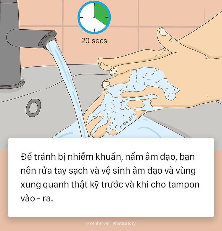 7 lưu ý nhỏ dưới đây sẽ giúp bạn tự tin dùng tampon trong lần đầu - Ảnh 9.