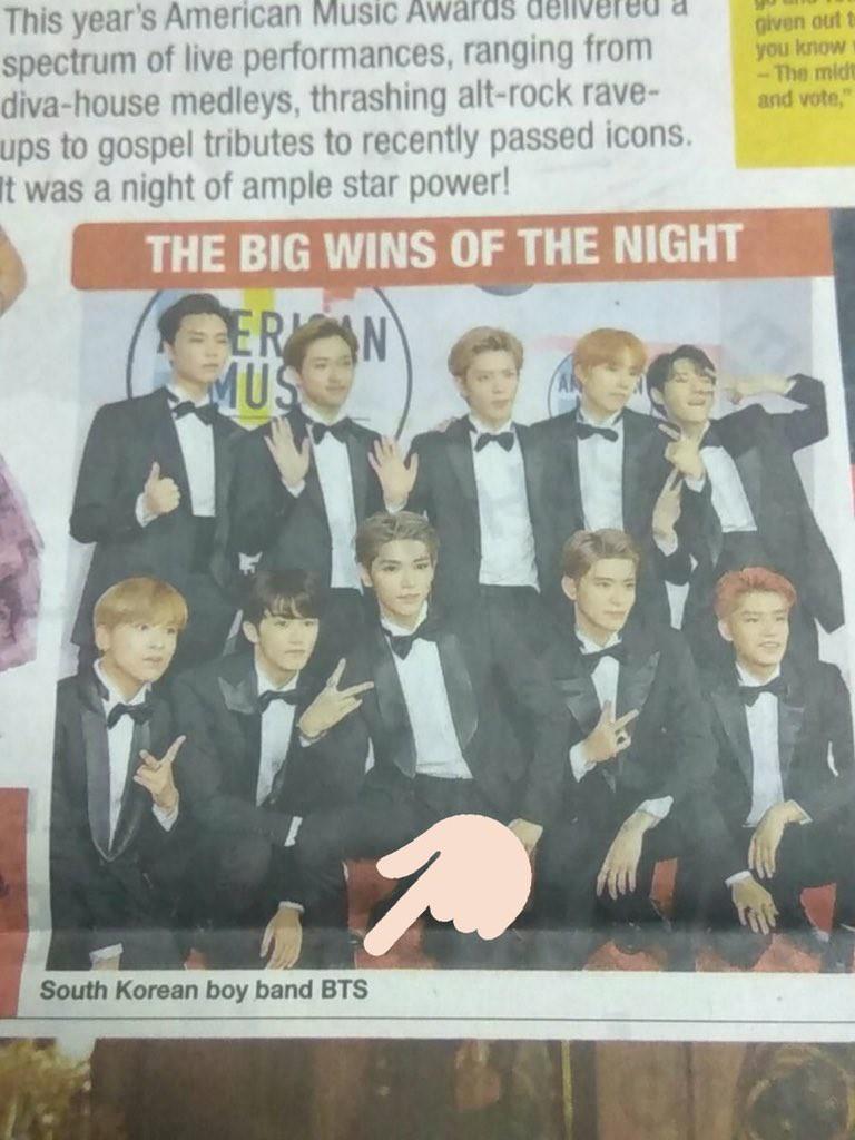 Báo Ấn Độ bị chỉ trích vì nhầm NCT 127 là BTS tại lễ trao giải American Music Awards 2018 - Ảnh 1.