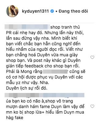 Kỳ Duyên tiếp tục bàn phím chiến trên instagram, lần này là đối phó với shop online bình luận quảng cáo gây hiểu lầm - Ảnh 6.