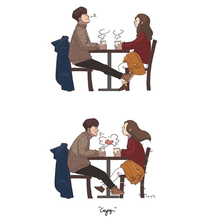 Có những bình yên mang tên anh: Bộ tranh lãng mạn nhất dành cho các cặp đôi mùa lạnh này - Ảnh 1.