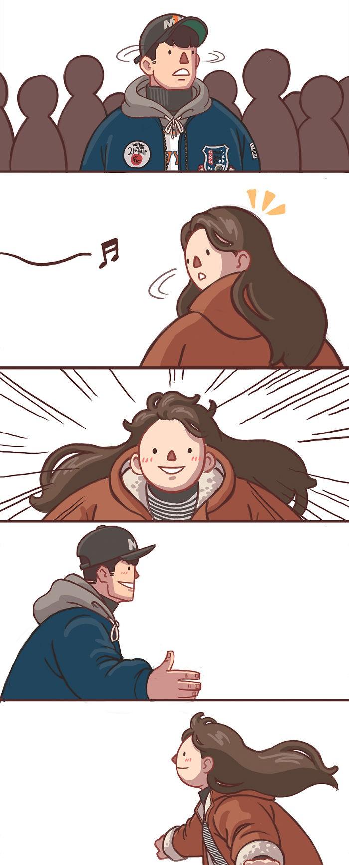Có những bình yên mang tên anh: Bộ tranh lãng mạn nhất dành cho các cặp đôi mùa lạnh này - Ảnh 5.