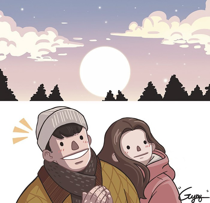 Có những bình yên mang tên anh: Bộ tranh lãng mạn nhất dành cho các cặp đôi mùa lạnh này - Ảnh 15.