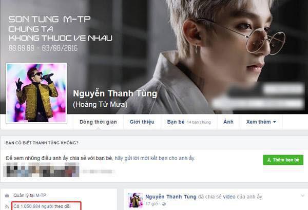 Trang Facebook cá nhân của Sơn Tùng M-TP lại đột ngột mất tích? - Ảnh 1.