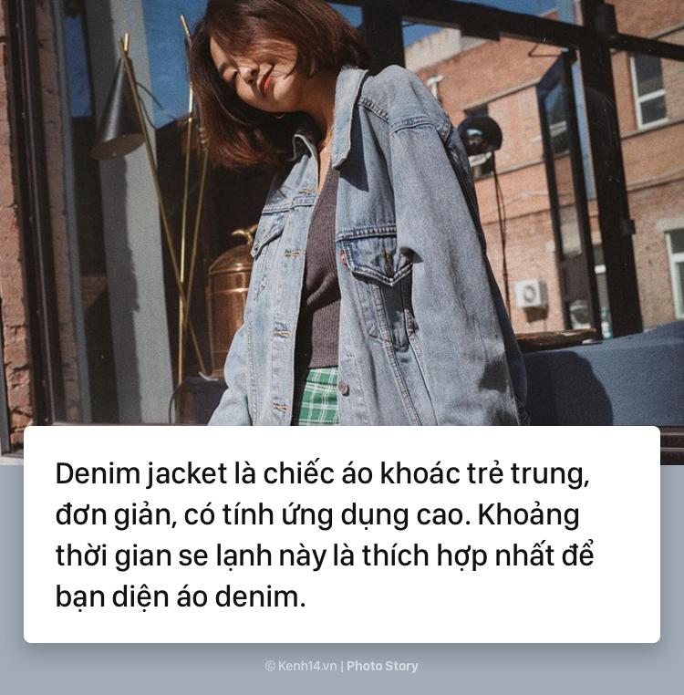 áo khoác denim nữ xu hướng mới 2018