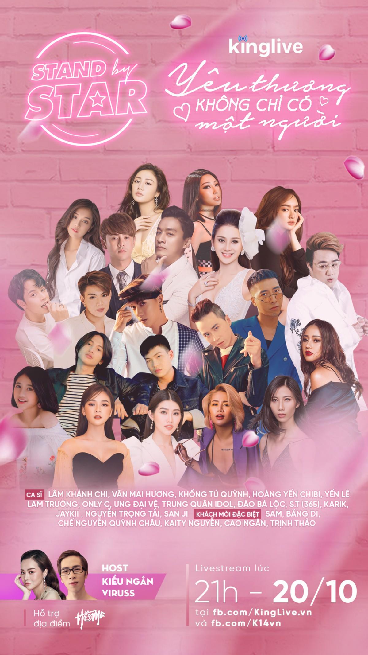 Dàn sao khủng Vbiz đổ bộ Stand By Star, hứa hẹn bùng nổ cảm xúc cùng ngày Phụ nữ Việt Nam 20/10 - Ảnh 2.