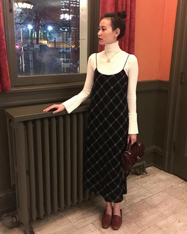 váy liền thu đông 2018
