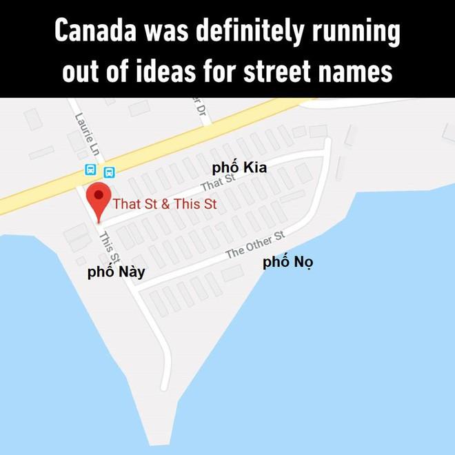 Mở Google Maps lên mà xem Canada đặt tên đường: Phố Này, phố Nọ và phố Kia - Ảnh 1.