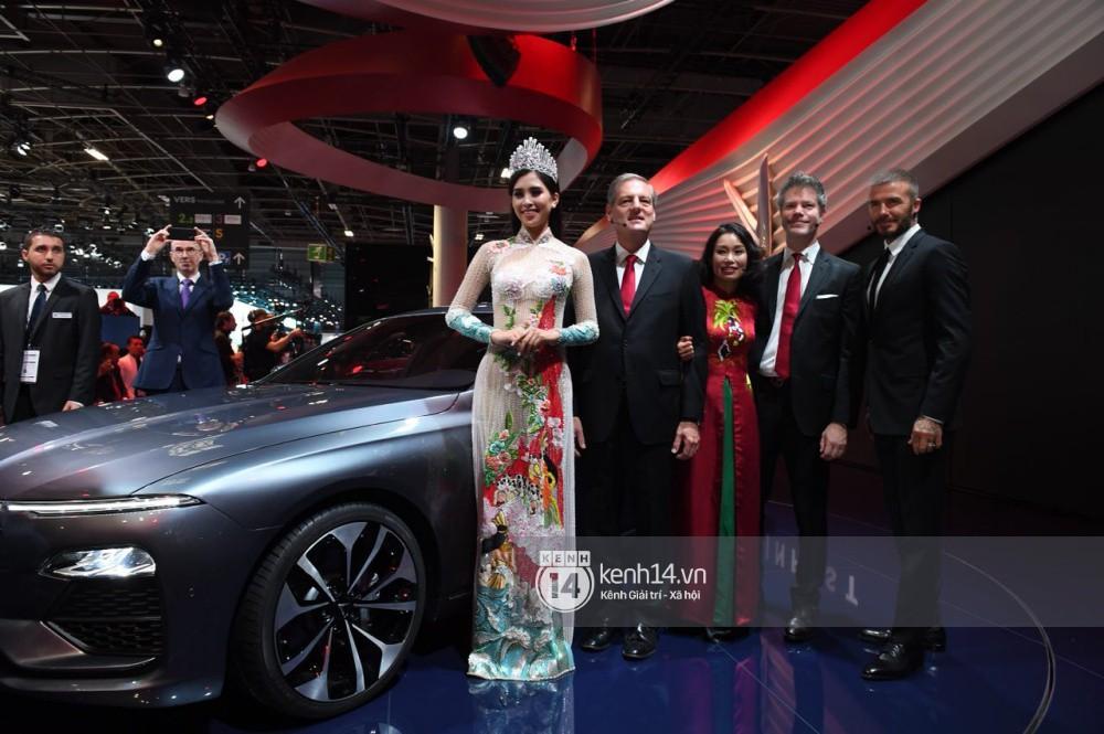 Hoa hậu Tiểu Vy diện váy dạ hội nổi bật, cực xinh đẹp trong sự kiện ra mắt ô tô VINFAST tại Paris - Ảnh 10.