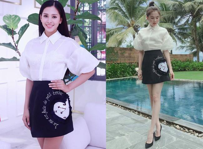 Mới đăng quang chưa đầy 1 tháng, HH Trần Tiểu Vy đụng váy áo liên hoàn với cả loạt người đẹp Vbiz - Ảnh 3.