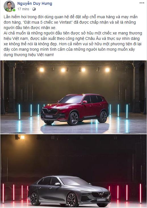 VINFAST: Ông Nguyễn Duy Hưng mua 5 chiếc xe VINFAST đầu tiên là ai?- Ảnh 6.