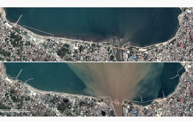 Bộ ảnh trước - sau này sẽ cho bạn thấy trận động đất khiến ít nhất 1.200 người chết ở Palu, Indonesia khủng khiếp như thế nào - Ảnh 3.