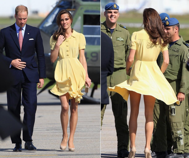 Tinh tế là thế nhưng Công nương Kate cũng không ít lần muối mặt vì gió lớn, suýt gây ra scandal lộ hàng - Ảnh 6.