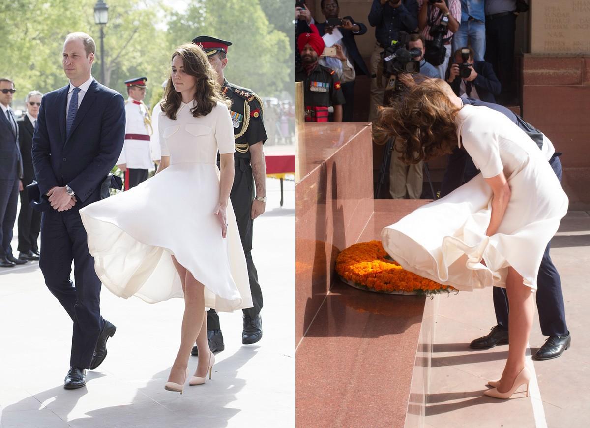 Tinh tế là thế nhưng Công nương Kate cũng không ít lần muối mặt vì gió lớn, suýt gây ra scandal lộ hàng - Ảnh 7.